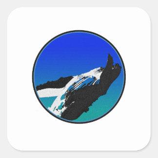 Adesivo Quadrado Baleia