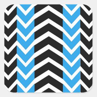 Adesivo Quadrado Baleia azul e preta Chevron