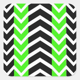 Adesivo Quadrado Baleia verde e preta Chevron