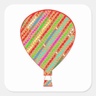 Adesivo Quadrado Balões ARTÍSTICOS das listras da cor intensa