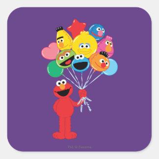 Adesivo Quadrado Balões de Elmo