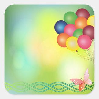 Adesivo Quadrado Balões do borrão