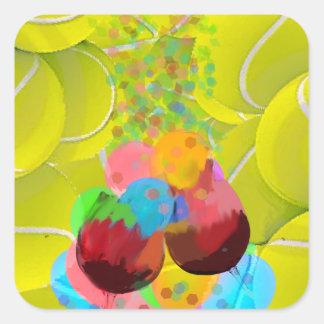 Adesivo Quadrado Balões dos vidros das bolas