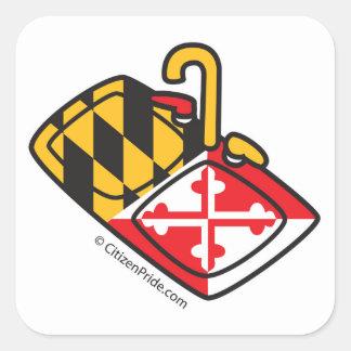 Adesivo Quadrado Banca da cozinha da bandeira de Maryland
