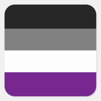 Adesivo Quadrado Bandeira assexuada contínua do orgulho