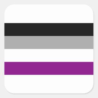 Adesivo Quadrado Bandeira assexuada do orgulho
