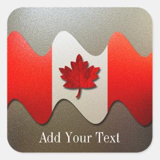 Adesivo Quadrado Bandeira-Cromo de Canadá por Shirley Taylor
