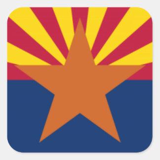 Adesivo Quadrado Bandeira da arizona