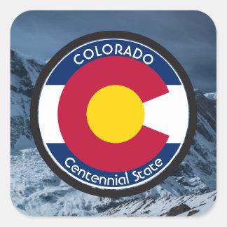Adesivo Quadrado Bandeira da circular de Colorado