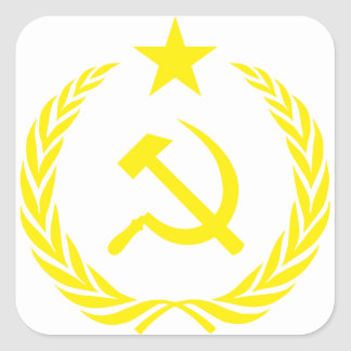 Adesivo Quadrado Bandeira da guerra fria de Communiste