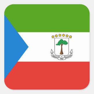Adesivo Quadrado Bandeira da Guiné Equatorial