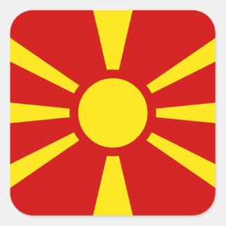 Adesivo Quadrado Bandeira da República da Macedónia