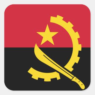 Adesivo Quadrado Bandeira de Angola - Bandeira de Angola