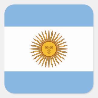 Adesivo Quadrado Bandeira de Argentina - bandera de Argentina
