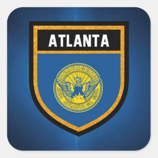 Adesivo Quadrado Bandeira de Atlanta