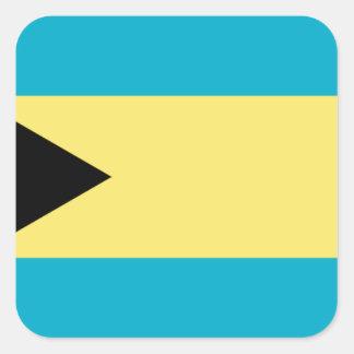 Adesivo Quadrado Bandeira de Bahamas