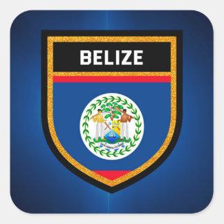 Adesivo Quadrado Bandeira de Belize