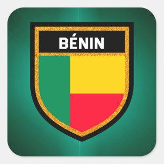 Adesivo Quadrado Bandeira de Bénin