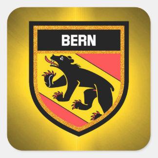 Adesivo Quadrado Bandeira de Berna