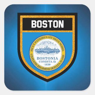 Adesivo Quadrado Bandeira de Boston