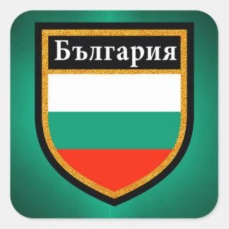 Adesivo Quadrado Bandeira de Bulgária