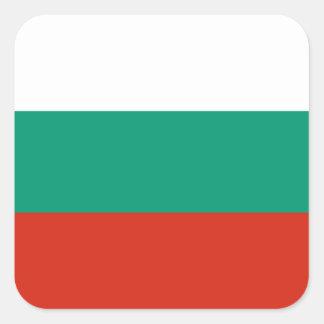 Adesivo Quadrado Bandeira de Bulgária ou de búlgaro
