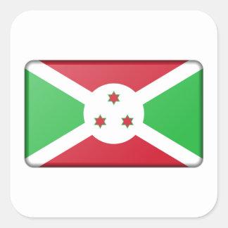 Adesivo Quadrado Bandeira de Burundi