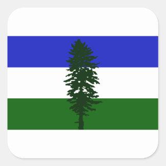 Adesivo Quadrado Bandeira de Cascadia