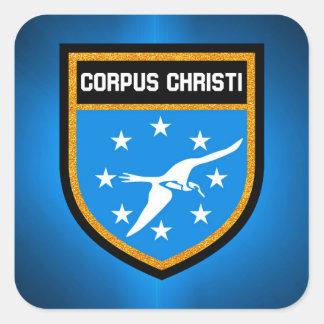 Adesivo Quadrado Bandeira de Corpus Christi