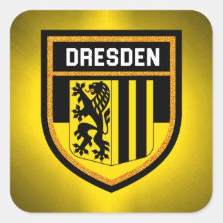 Adesivo Quadrado Bandeira de Dresden