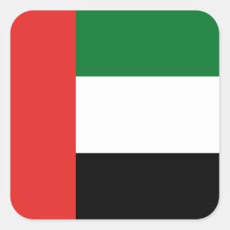 Adesivo Quadrado Bandeira de Emiradosarabes