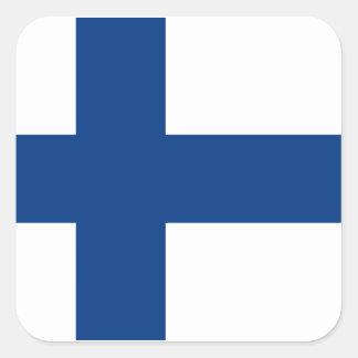 Adesivo Quadrado Bandeira de Finlandia