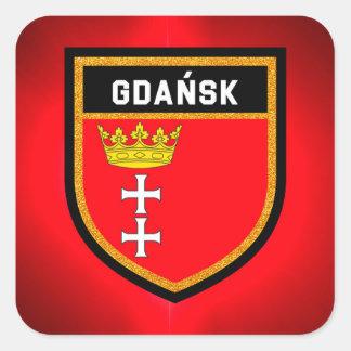 Adesivo Quadrado Bandeira de Gdańsk