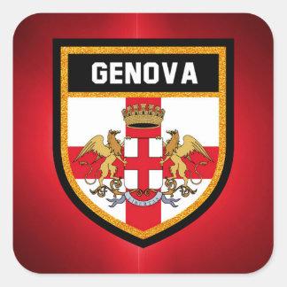 Adesivo Quadrado Bandeira de Genebra