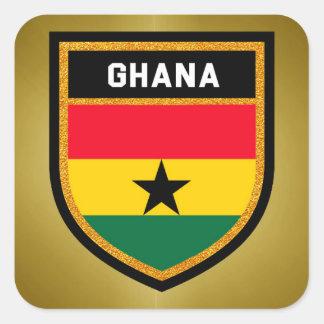 Adesivo Quadrado Bandeira de Ghana