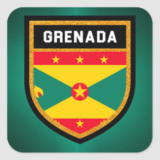 Adesivo Quadrado Bandeira de Grenada