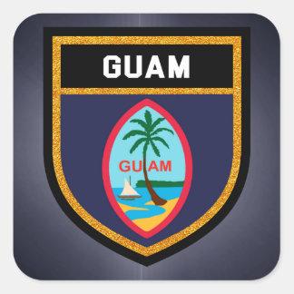 Adesivo Quadrado Bandeira de Guam