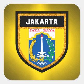 Adesivo Quadrado Bandeira de Jakarta