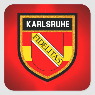 Adesivo Quadrado Bandeira de Karlsruhe