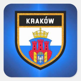 Adesivo Quadrado Bandeira de Kraków