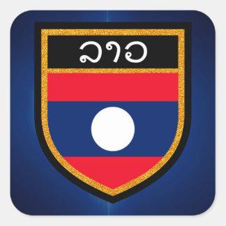 Adesivo Quadrado Bandeira de Laos