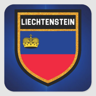 Adesivo Quadrado Bandeira de Liechtenstein
