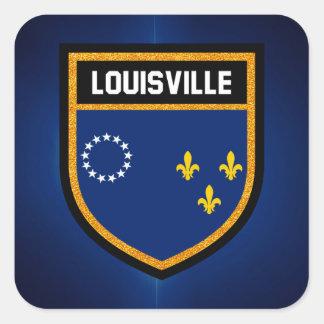 Adesivo Quadrado Bandeira de Louisville