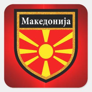 Adesivo Quadrado Bandeira de Macedónia