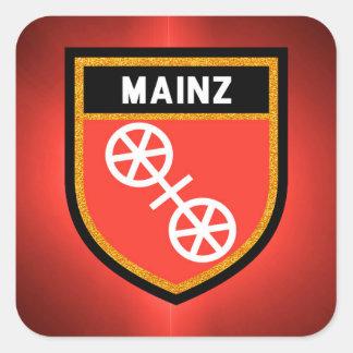 Adesivo Quadrado Bandeira de Mainz