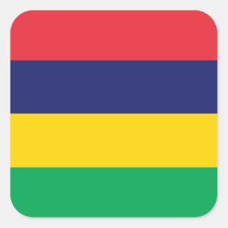 Adesivo Quadrado Bandeira de Maurícia