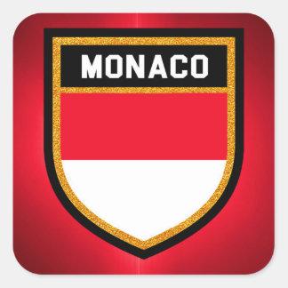 Adesivo Quadrado Bandeira de Monaco