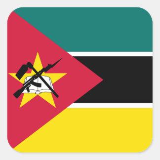 Adesivo Quadrado Bandeira de Mozambique