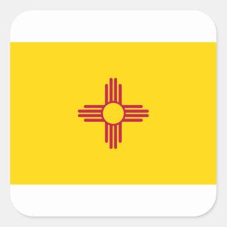 Adesivo Quadrado Bandeira de New mexico
