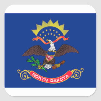 Adesivo Quadrado Bandeira de North Dakota